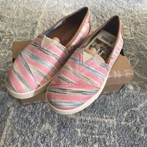 TOMS Peony Ikat Stripe Textile Avalon Slip-On